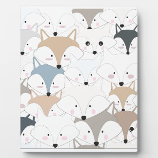 Plaque Photo Motif mignon de renard ou de loup de bande