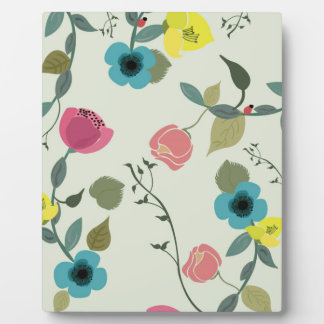 Plaque Photo Motifs floraux dénommés asiatiques