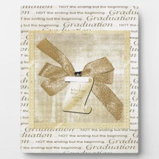 Plaque Photo Mots d'obtention du diplôme, grand arc avec le