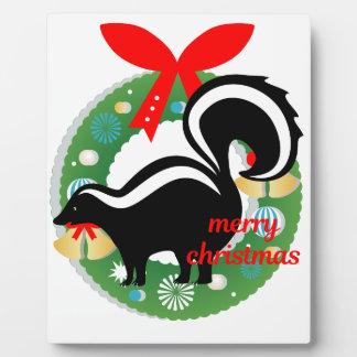 Plaque Photo mouffette de Joyeux Noël