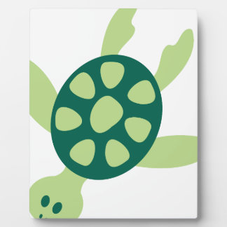 Plaque Photo Natation de tortue verte