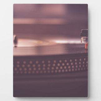 Plaque Photo Noir d'équipement de vinyle de disque de musique