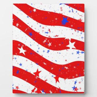 Plaque Photo Nous drapeau américain de drapeau de l'Amérique de