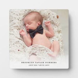 Plaque Photo Nouveau chevalet de photo de bébé de gradient