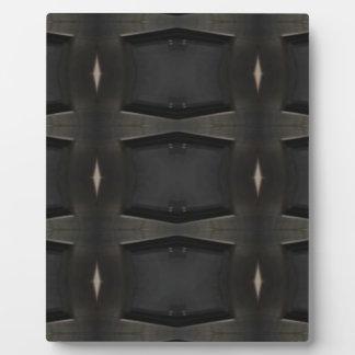 Plaque Photo Nuances de motif classique gris de charbon de bois