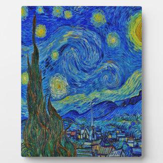 Plaque Photo Nuit étoilée de Van Gogh
