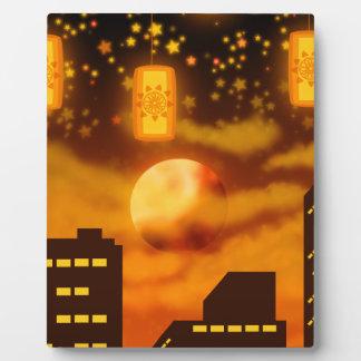Plaque Photo Nuits oranges de ville