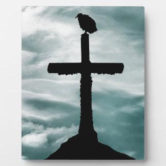 Plaque Photo Oiseau au sommet d'illustration croisée de collage
