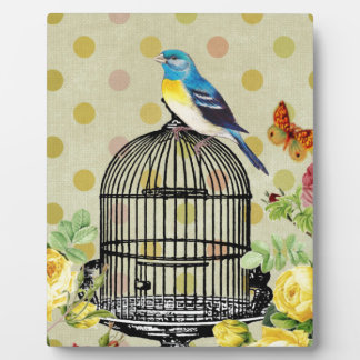 Plaque Photo oiseau floral, art, conception, beau, nouvelle,