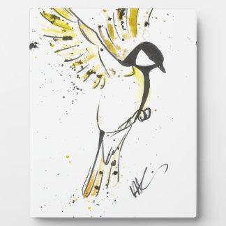 Plaque Photo Oiseau jaune