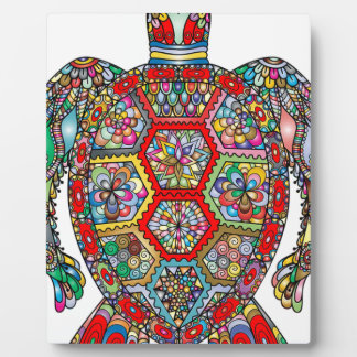 Plaque Photo Ornamental décoratif de fleurs florales de tortue