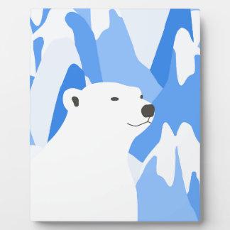 Plaque Photo Ours blanc dans la conception froide