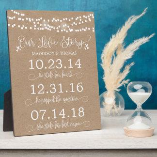 Plaque Photo Papier d'emballage allume notre décor de mariage