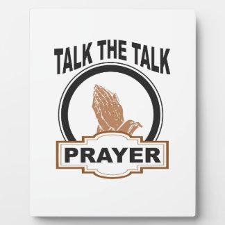Plaque Photo parlez la prière d'entretien ouais