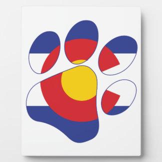 Plaque Photo Patte d'animal familier du Colorado