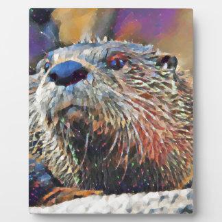 Plaque Photo Peinture à l'huile de Digitals de loutre de