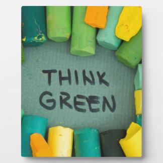 Plaque Photo Pensez le vert, concept d'écologie