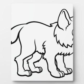 Plaque Photo Personnage de dessin animé de loup