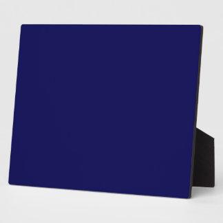 Plaque Photo Personnaliser de couleur solide de bleu marine il