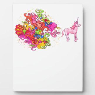 Plaque Photo Pet de licorne