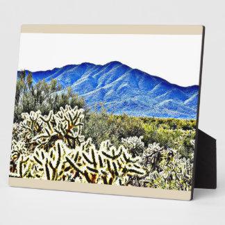 Plaque Photo Photo sautante de cactus de Tonto avec le chevalet