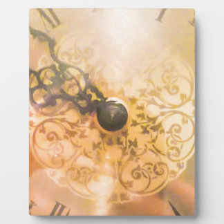 Plaque Photo Photo vintage de style de vieille horloge murale