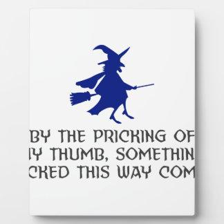 Plaque Photo Piquage de ma conception de Halloween de pouce