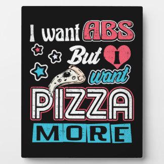 Plaque Photo Pizza contre l'ABS - régime de entassement en vrac