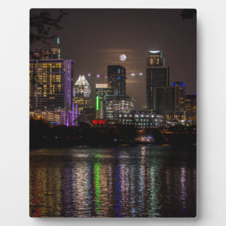 Plaque Photo Pleine lune d'Austin le Texas