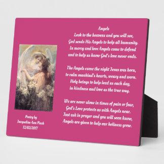 Plaque Photo Poésie d'anges