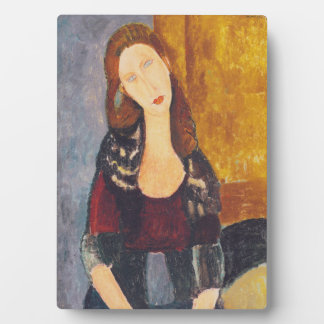 Plaque Photo Portrait de Jeanne Hebuterne par Amedeo Modigliani
