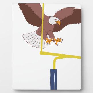 Plaque Photo poteau de but d'aigle