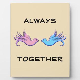 Plaque Photo Pour toujours ensemble