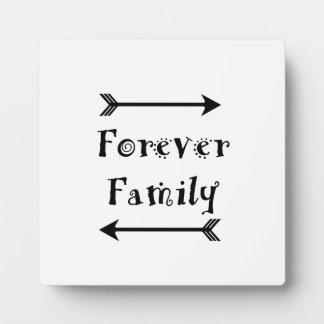 Plaque Photo Pour toujours famille - conception d'Adpotion