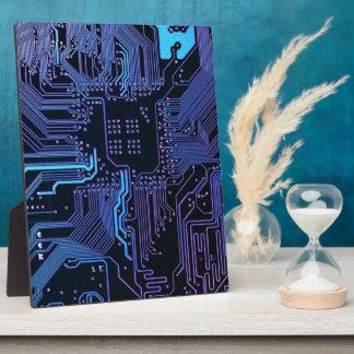 Plaque Photo Pourpre bleu d'ordinateur de bord frais de circuit