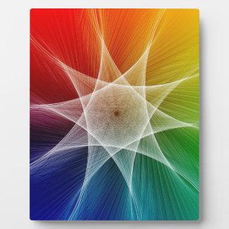Plaque Photo Profil sous convention astérisque abstrait