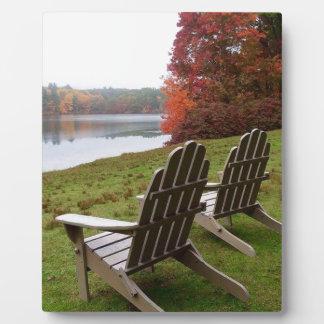 Plaque Photo Promenade de matin en automne