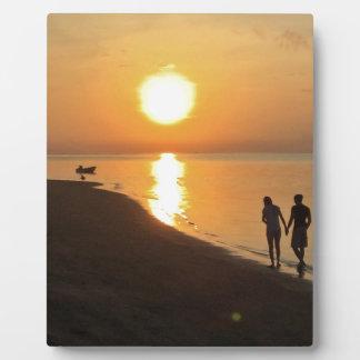 Plaque Photo Promenade de matin sur la plage