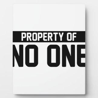Plaque Photo Propriété sans une