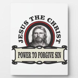 Plaque Photo puissance de pardonner le jc de péché