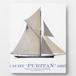 Plaque Photo Puritain 1885