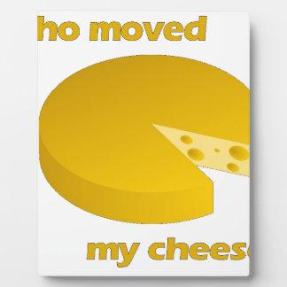 Plaque Photo Qui a déplacé le fromage