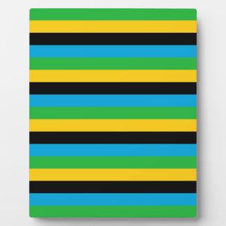 Plaque Photo Rayures de drapeau de la Tanzanie