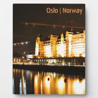 Plaque Photo Réflexions de l'eau à Oslo, Norvège