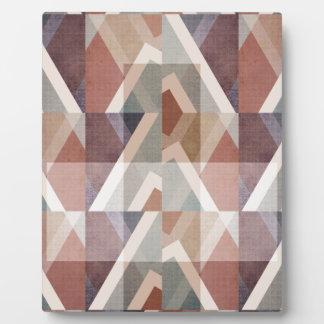 Plaque Photo Résumé géométrique texturisé