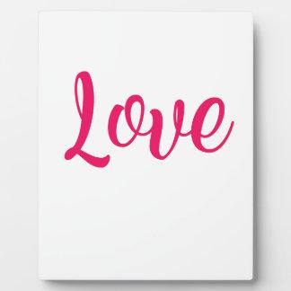 Plaque Photo Rose d'amour