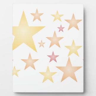 Plaque Photo Rose/rouge/étoiles d'orange