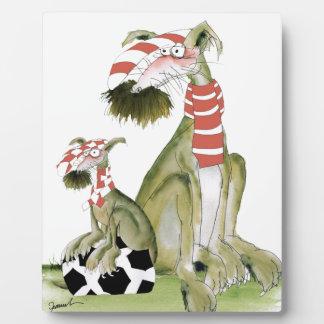 Plaque Photo rouges du football, tel père, tel fils