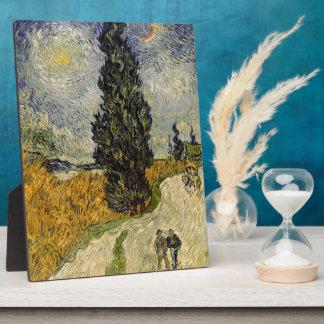 Plaque Photo Route de Vincent van Gogh | avec des cyprès, 1890