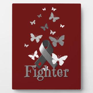 Plaque Photo Ruban de conscience de diabète de combattant